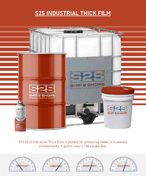 Ship-2-Shore protect electronics, space shuttles, and food processing plant & equipment, long lasting moisture and corrosion protection